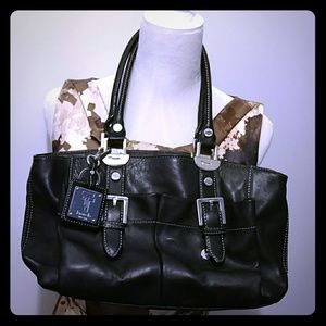 Tignanello black leather purse NWOT